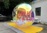 5ft Reflecting Giant Silver Inflatable Mirror Ball For Exhibition Booth Decoration