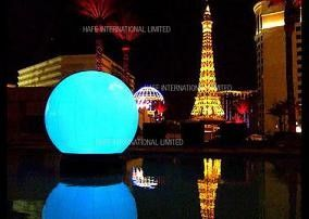 Floating Giant Inflatable Lighting LED 480W Water Balloon For Concert / Advertising