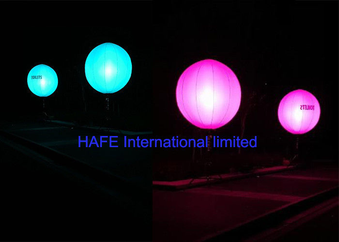 Color Changing LED Inflatable Lighting Decoration With DMX512 Controler Box